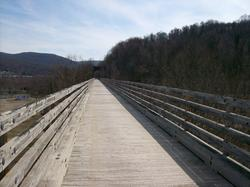 Bridge on the bike trail